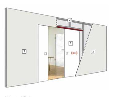 ... Double Pocket Door Drawing