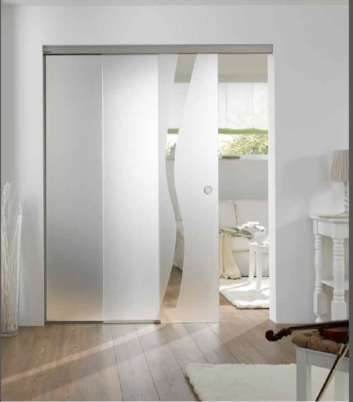 Sliding door hardware sliding track for wooden and glass for Frosted glass sliding doors