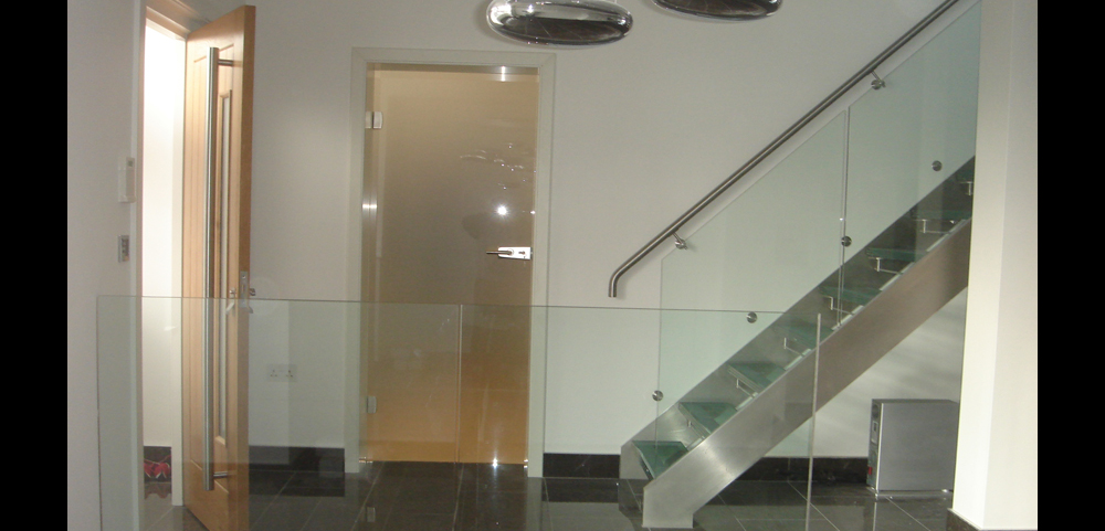 internal frosted glass doors