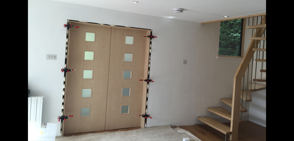 dividing doors living room