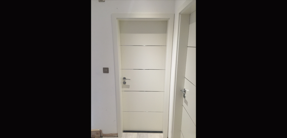 white bedroom door