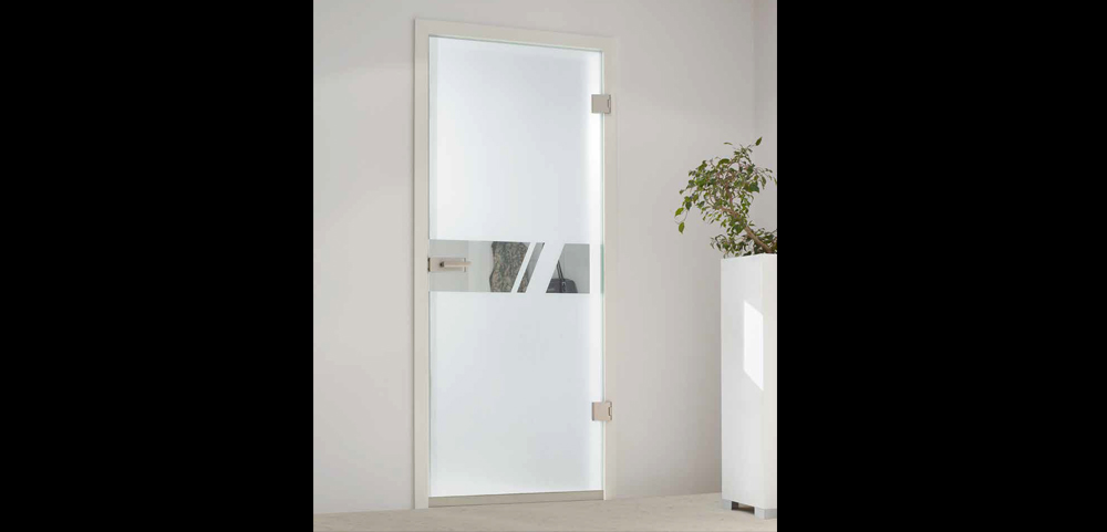 smoke proof glass door set