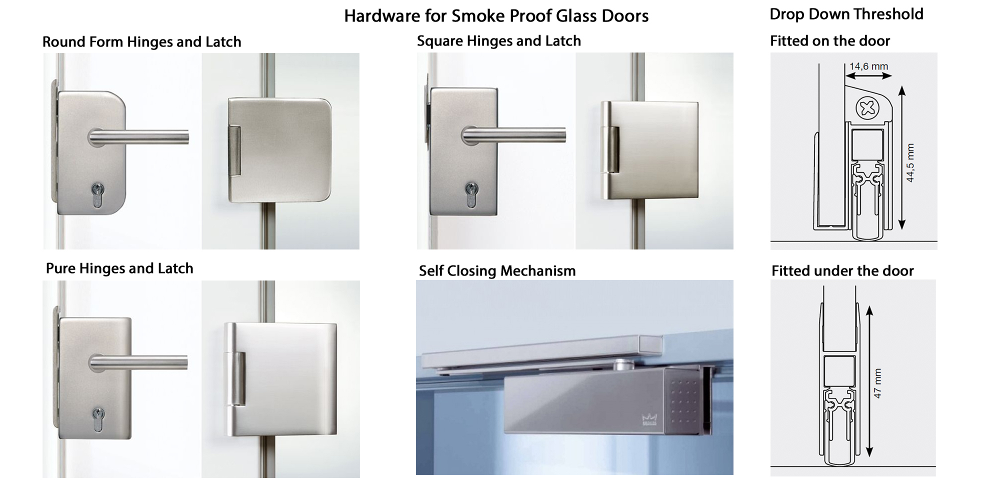 hardware for glass doors