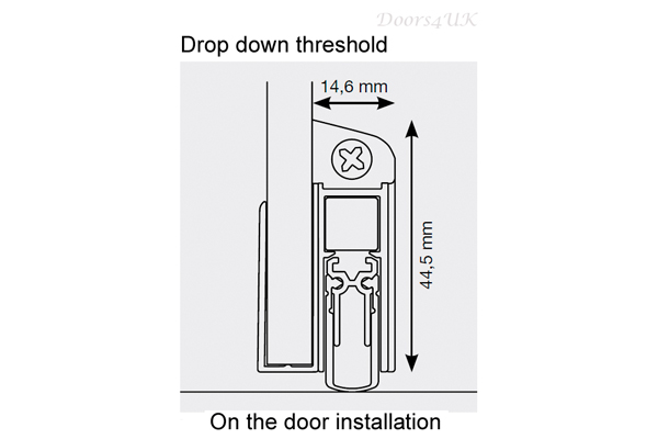 drop down threshold for glass doors