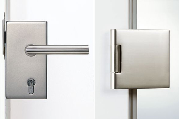Hardware for glass doors square