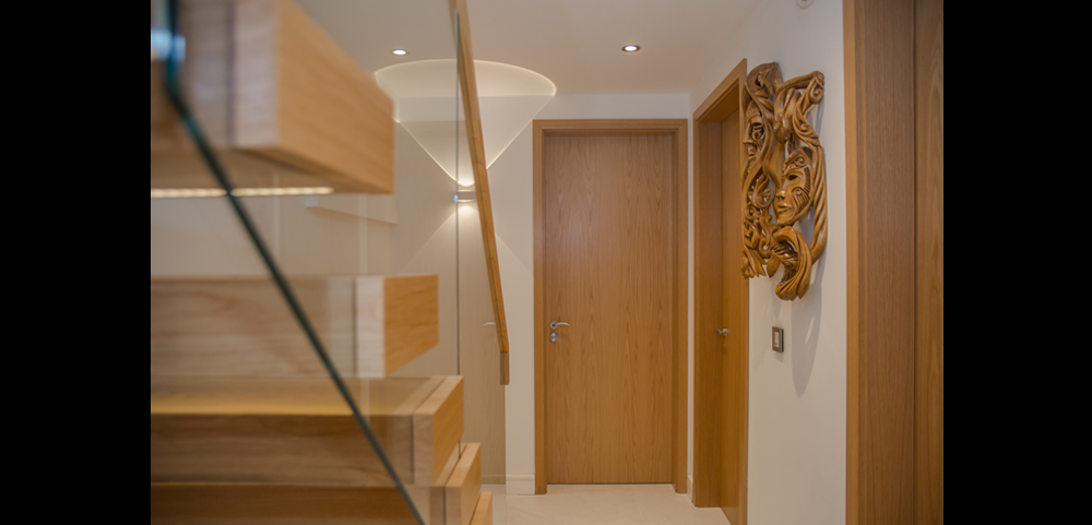 Pre finished oak internal doors