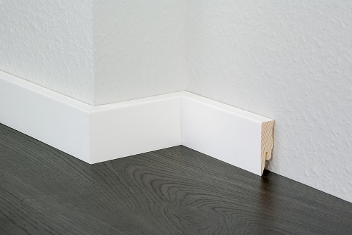 Solid Wood Primed Foil Skirting Board
