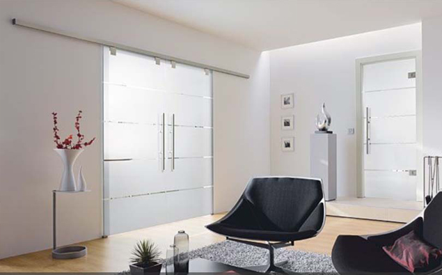 Interior doors with glass as dividing doors for living room ...