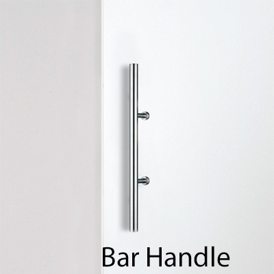 Bar handle for wood doors