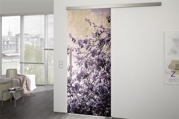 sliding glass doors - flower design