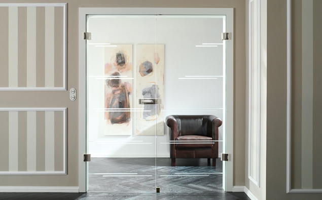 Interior Doors With Glass As Dividing Doors For Living Room French
