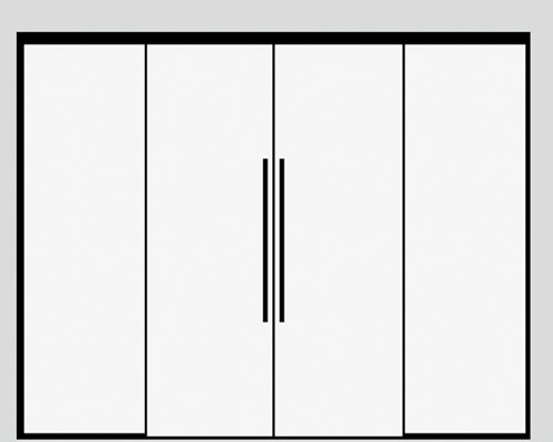 Sliding double doors