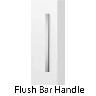 Flush bar handle for wood doors