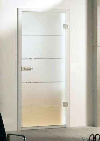 Atos on frosted glass door set