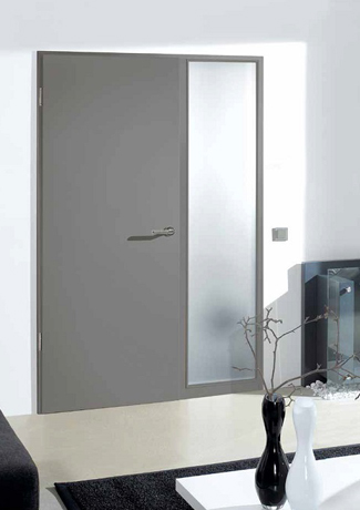 Grey laminate door set with side panel