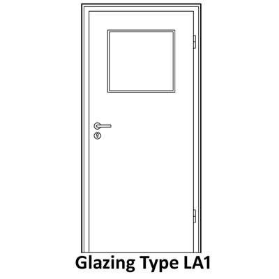 Glazing for smoke proof door