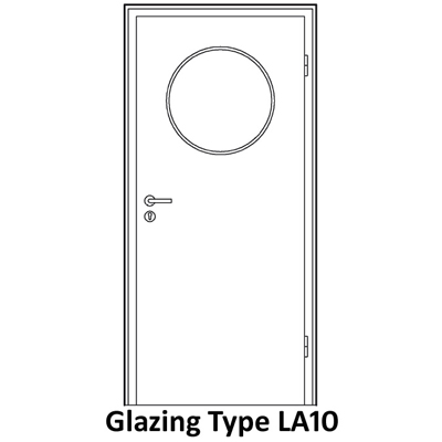 LA10 glazing for smoke proof doors