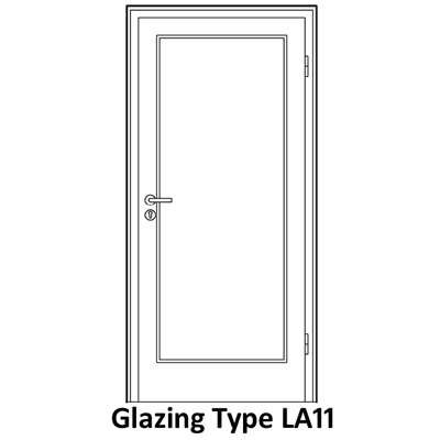 Glazing for soundproof door LA11