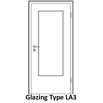 LA3 glazing for smoke proof door
