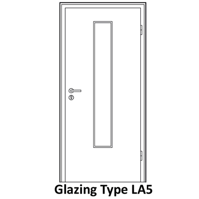 L5 glazing for smoke proof doors