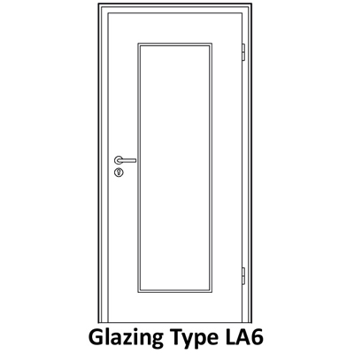 Glazing for soundproof door LA6