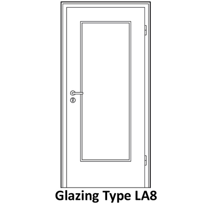 Glazing for soundproof door LA8