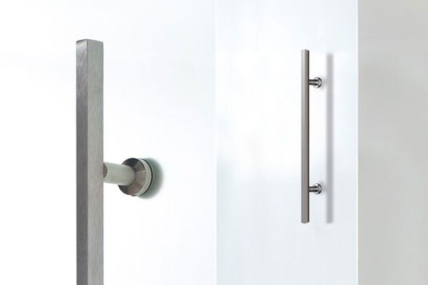Square Bar Handles for glass doors