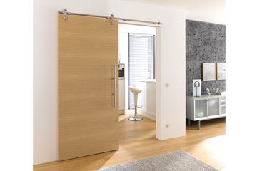 Oak mat single wooden door
