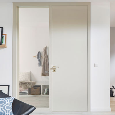 Internal Glazed Doors Bespoke White Interior Glazed Doors Shaker
