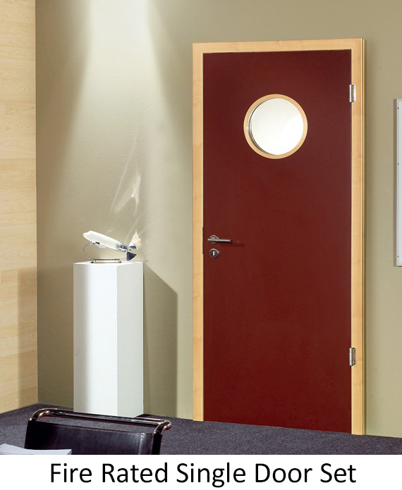 glazed fire door