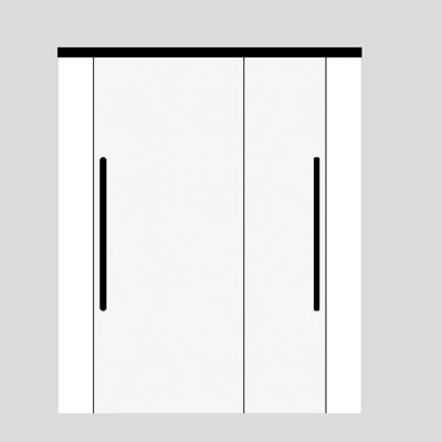 Sliding doors on top of each other