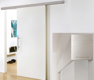 White laminate sliding door