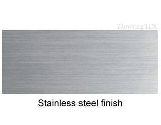 Sliding system stainless steel finish