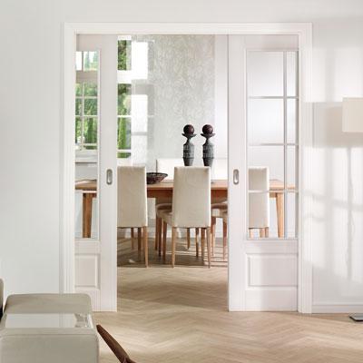 Internal Glazed Doors Bespoke White Interior Glazed Doors Shaker
