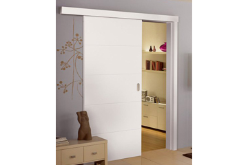 White sliding doors