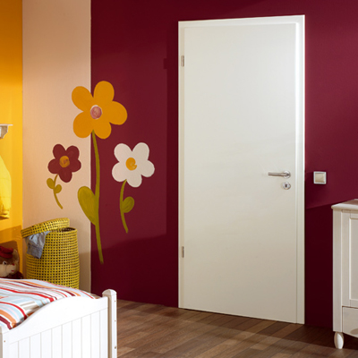 White painted door set