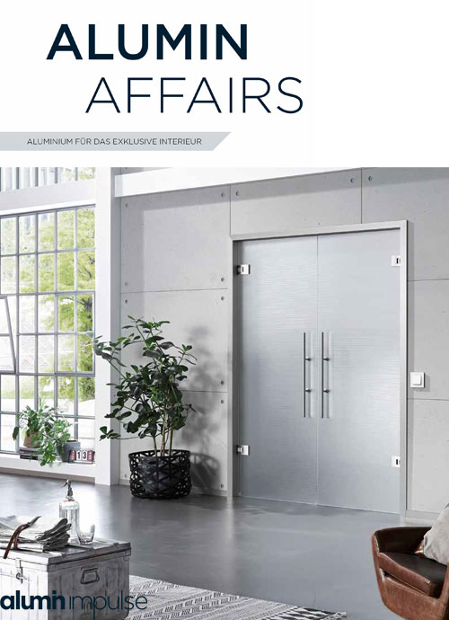 Aluminium frames for glass and wood doors