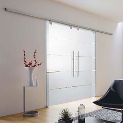 Atos glass sliding double doors