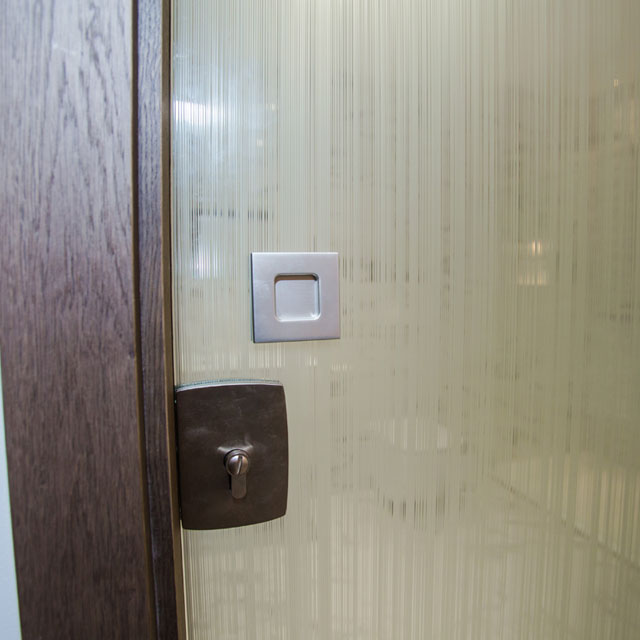 bathroom pocket door with lock