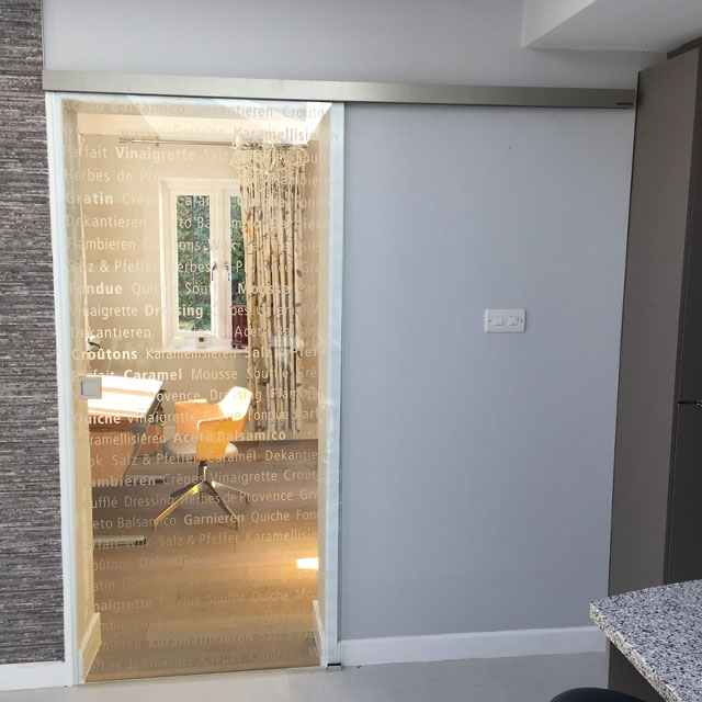 bespoke glass sliding door