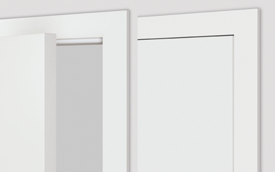 Non-rebated door set