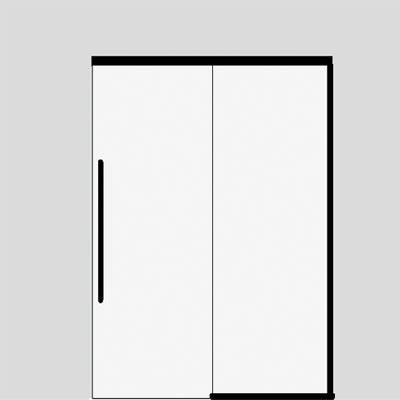 single sliding door with side panel