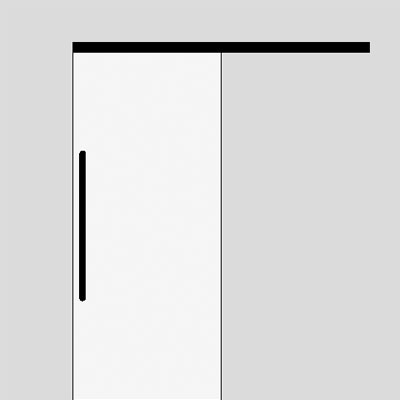 single sliding door