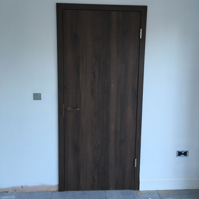 fitted black walnut interior doors
