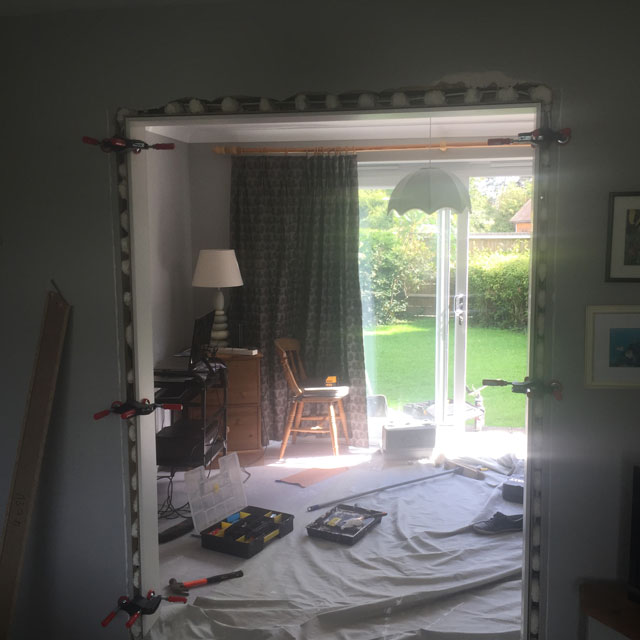 fitted glass door frame