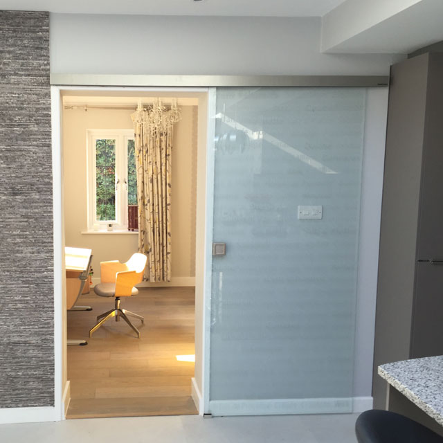 fitted sliding glass door