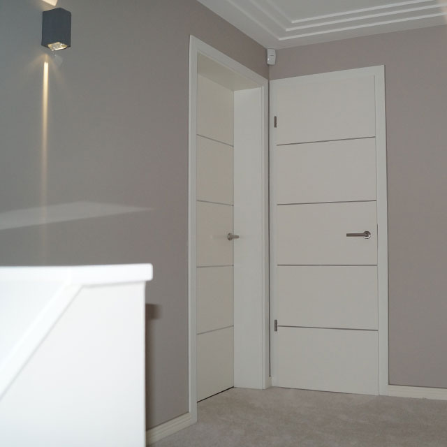 official photos 0a441 58471 White Sliding Internal Doors | Grooved Doors | White ...