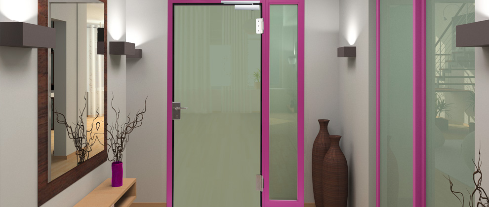 fire glass with side panels