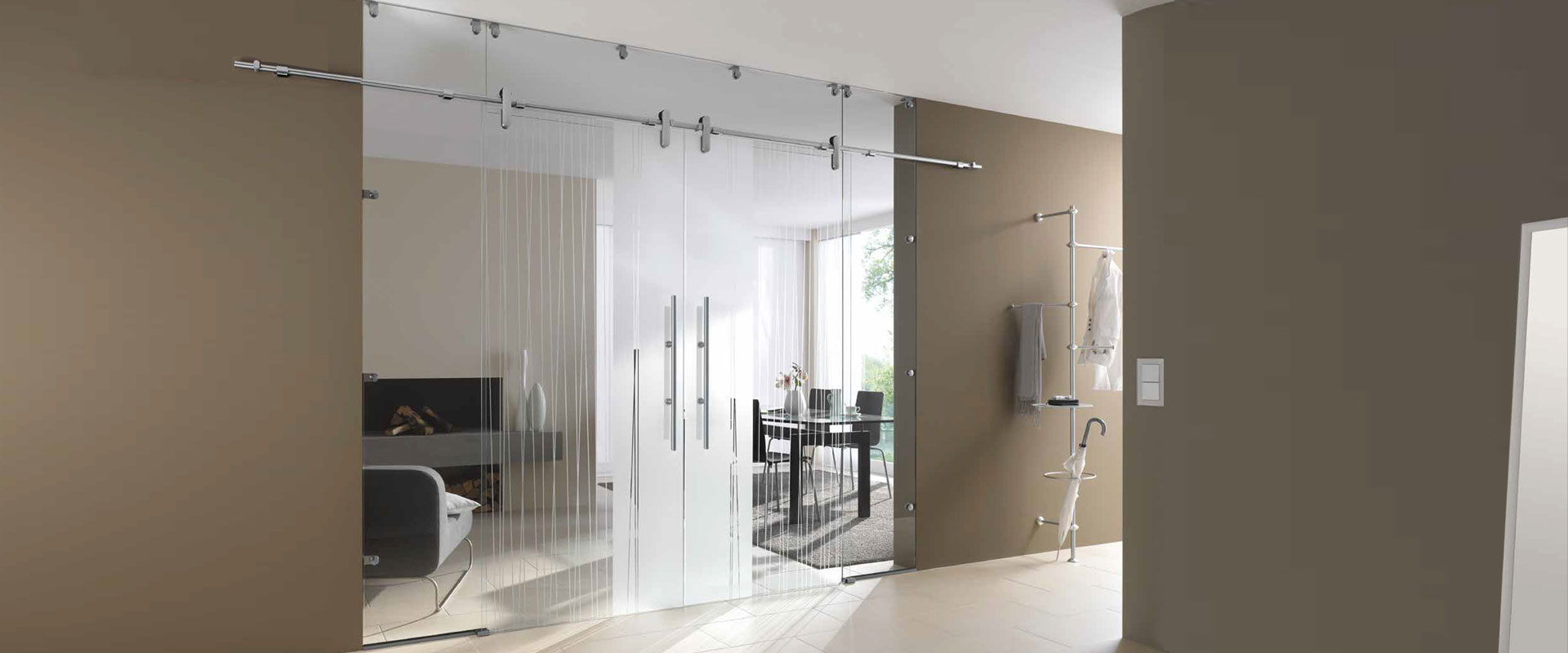Luxury Hinged Glass Doors Sliding Glass Partitions