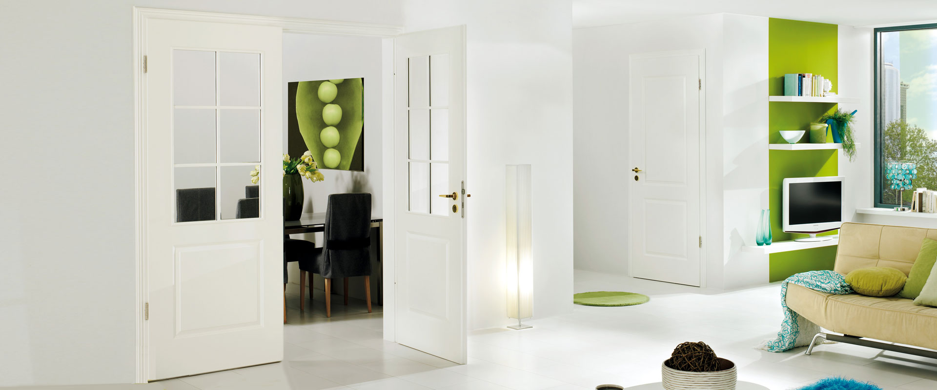 internal glazed double door